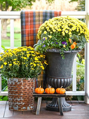 OUTDOOR SMALL SPACE FALL DECORATING