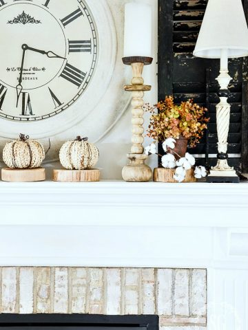 SYTLE A FALL MANTEL TO GET NOTICED