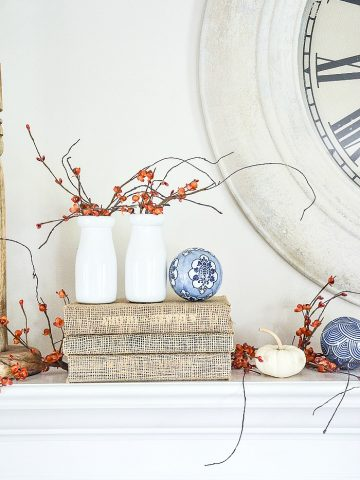 A LITTLE BIT OF FALL MANTEL