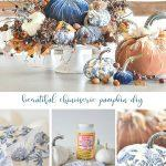 A COLLAGE OF CHINOISERIE PUMPKINS