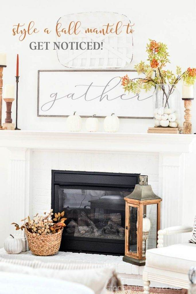 soft colored fall mantel