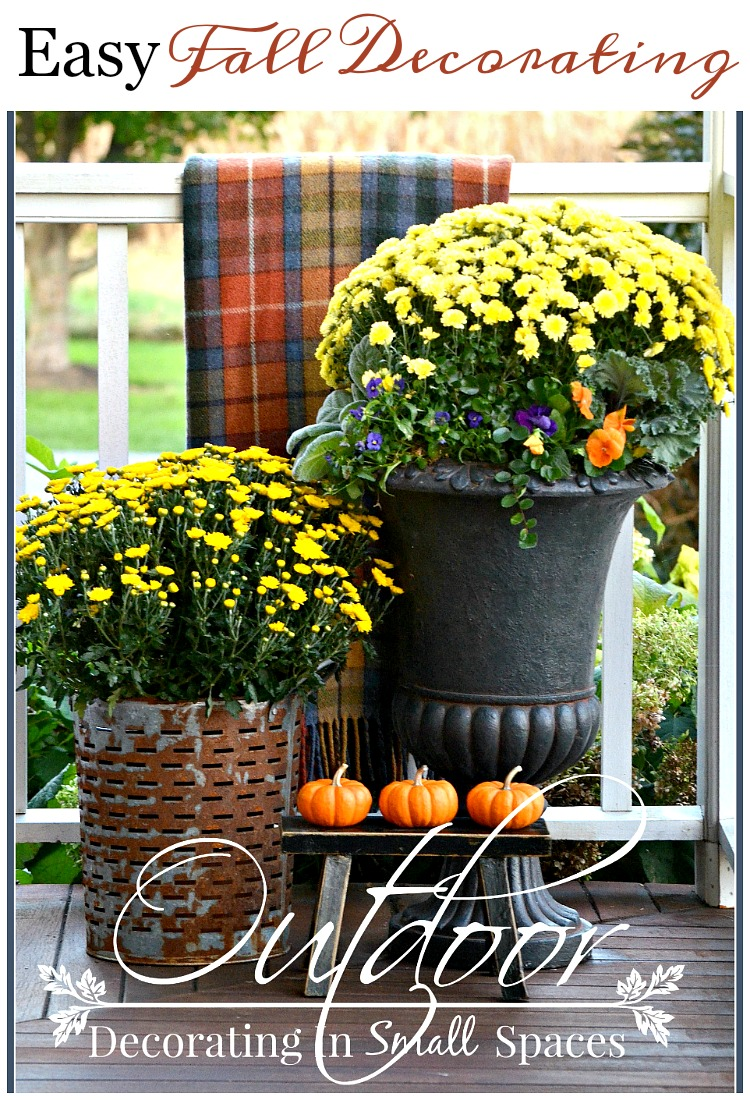 Outdoor Small Space Fall Decorating Stonegable