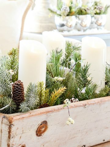 OH, YES YOU CAN USE FAUX CHRISTMAS GREENS!