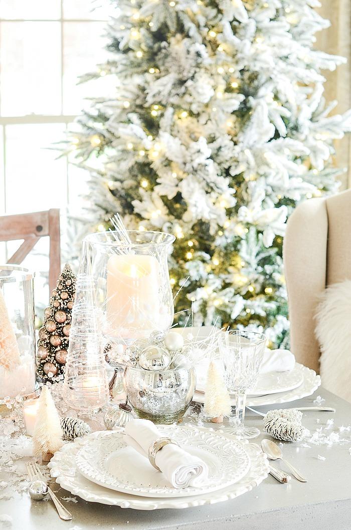 Winter Wonderland Christmas Theme.Winter Wonderland Tablescape Stonegable