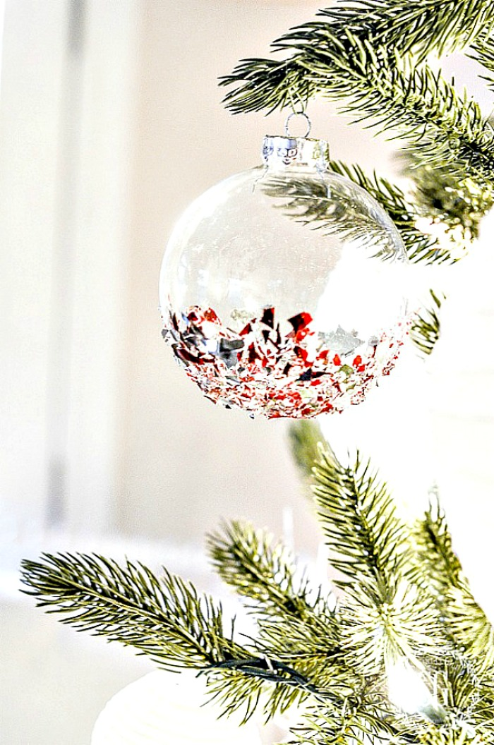 glass ornament on a tree