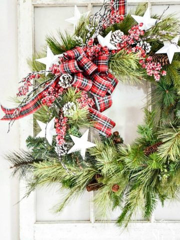UPDATING AN OLD CHRISTMAS WREATH DIY