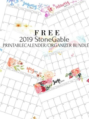 GET YOUR FREE 2019 PRINTABLE CALENDAR