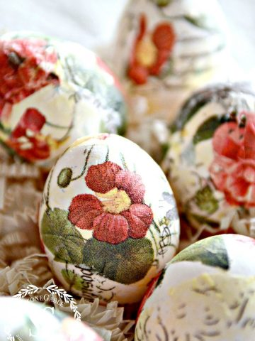 BEAUTIFUL DECOUPAGE EASTER EGGS