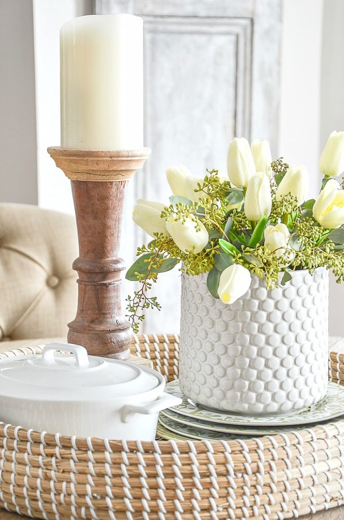 faux tulips are an easy last minute EASTER IDEAS