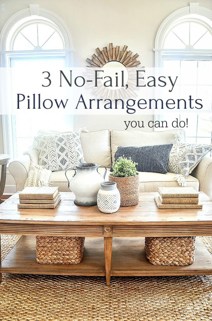 NO FAIL PILLOW ARRANGEMENTS ON A LIVING ROOM SOFA