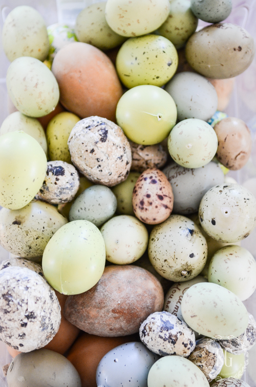 pretty faux eggs