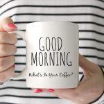 mug of hot coffee