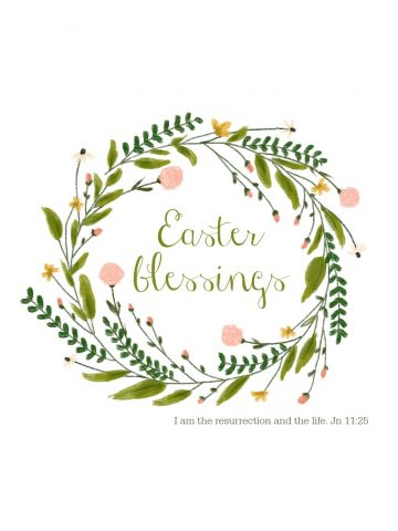spring wreath easter printable