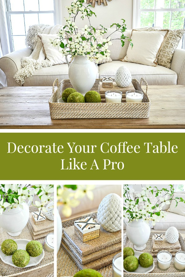 5 coffee table accessories: tray, candles, organics, books and something quirky or personal