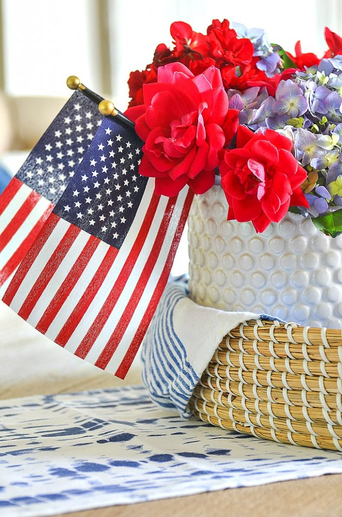 patriotic dishes in a basket