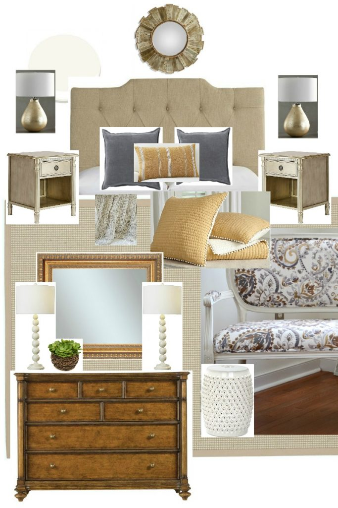 inspiration board of bedroom to be budget friendly