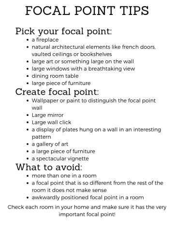 FOCAL POINT CHECKLIST