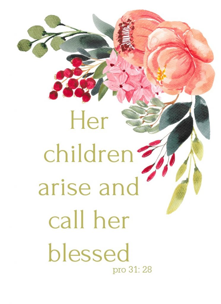mother's day image with flowers and saying