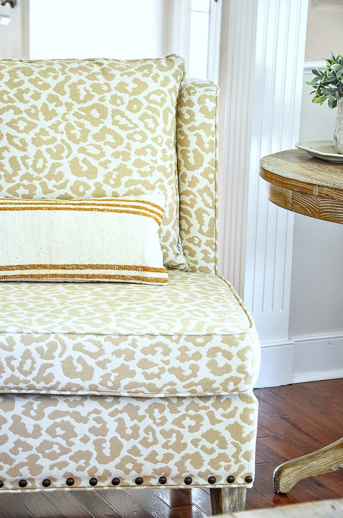 chetah print accent chair
