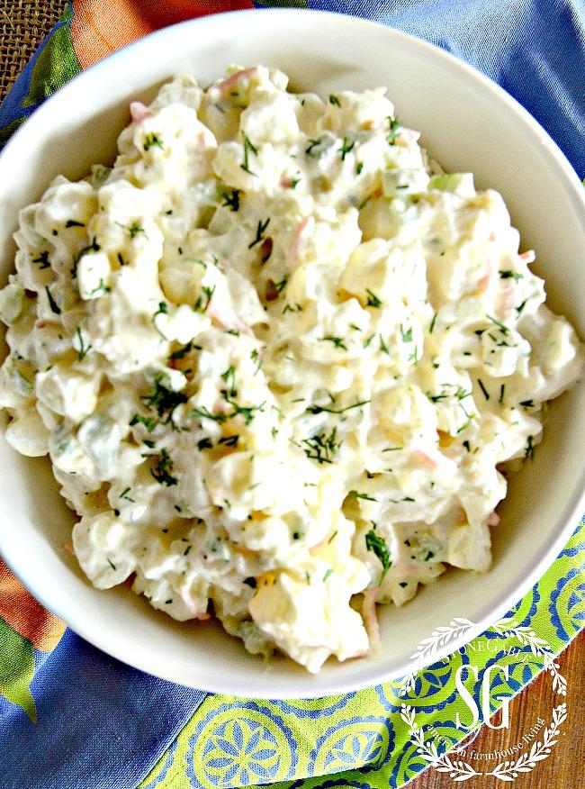 potato salad on the menu