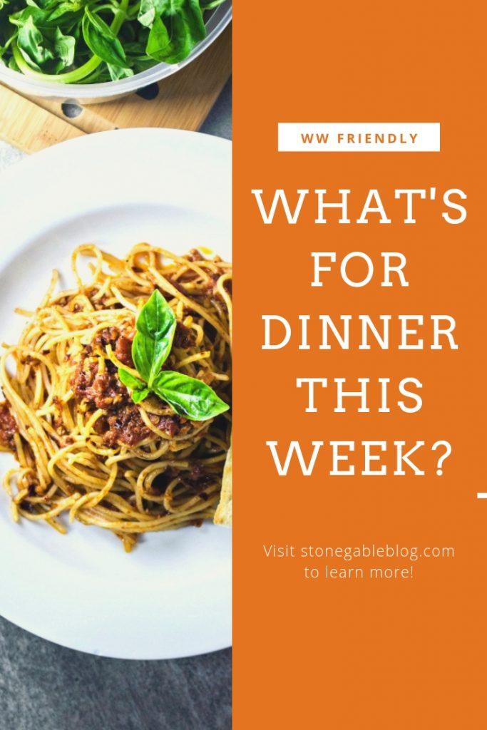 spaghetti dinner with green salad