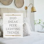 gold 2020 lighting trend sconce next to a bed