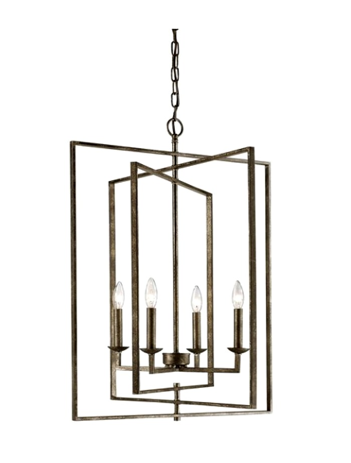 geometric chandelier on trend for 2020
