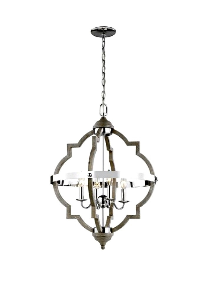 2020 lighting trend mixed metal and wood chandelier