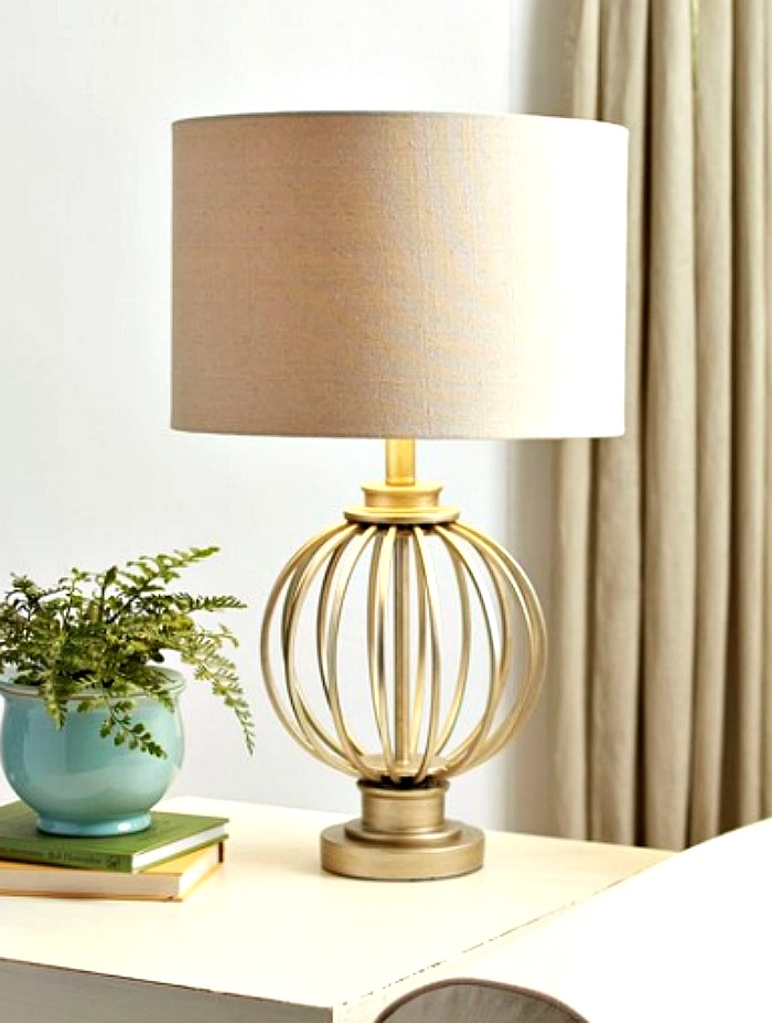 geometric gold metal round lamp on trend for 2020