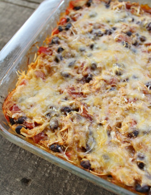 mexican casserole on the menu