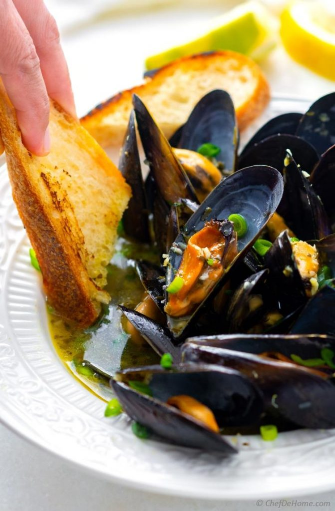 mussels in a bowl on the menu
