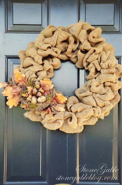 old wreath on a front door