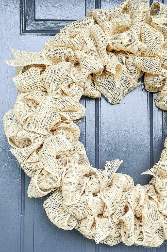 wreath on a front door