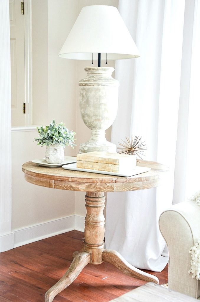 accent table in the living room