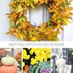 COLLAGE OF FALL OUTDOOR DECORATING