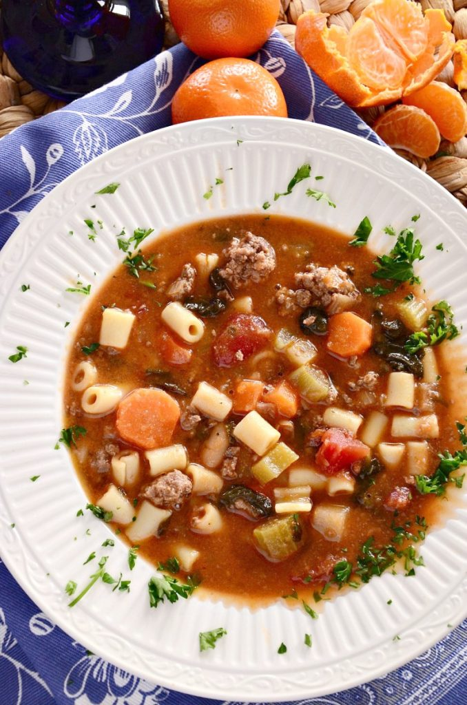 plan this fall minestrone soup recipe