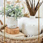 fall vignette in a basket