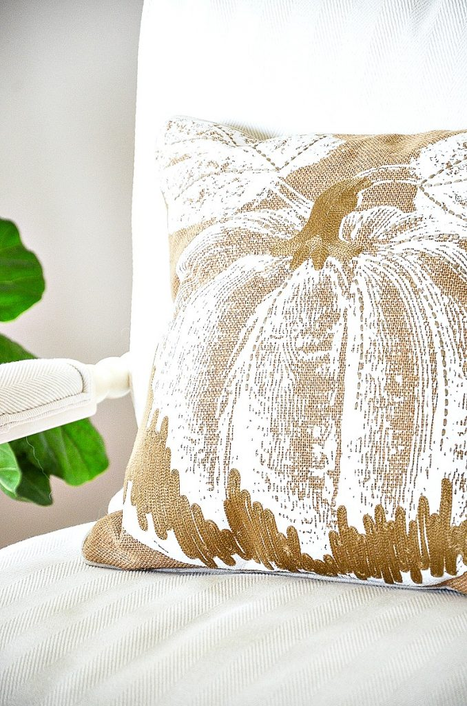 beautiful burlap pumpkin pillow