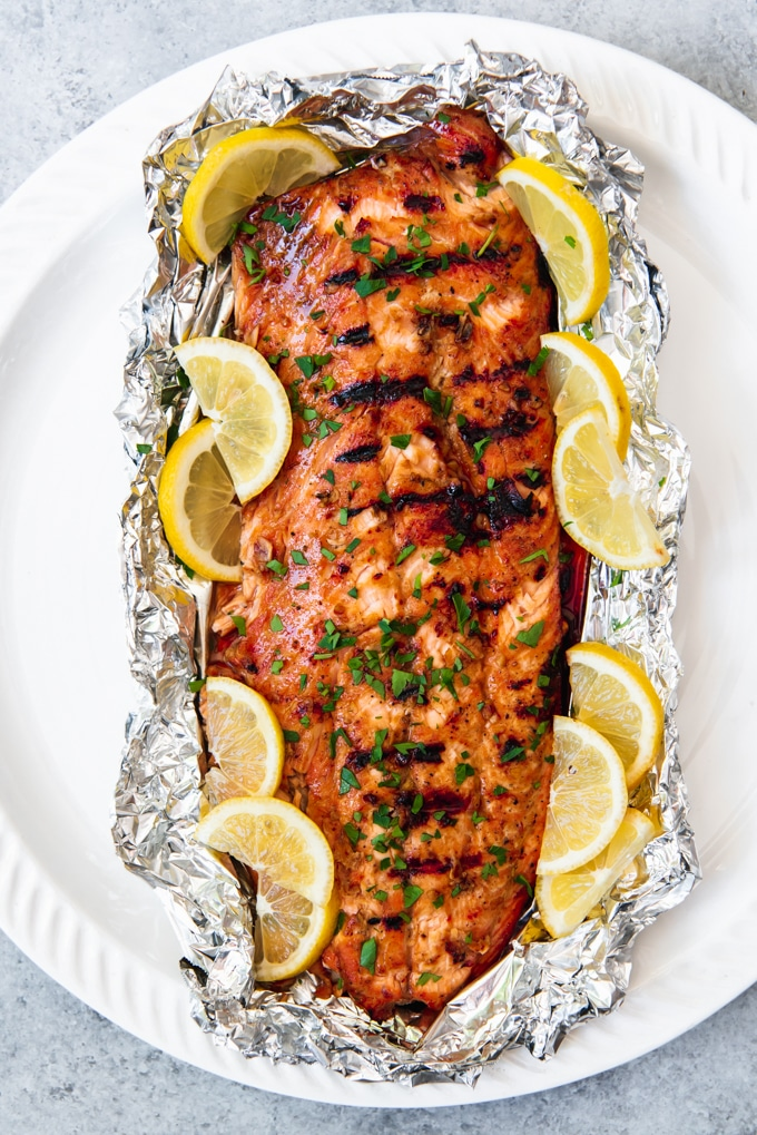 baked honey salmon on the menu