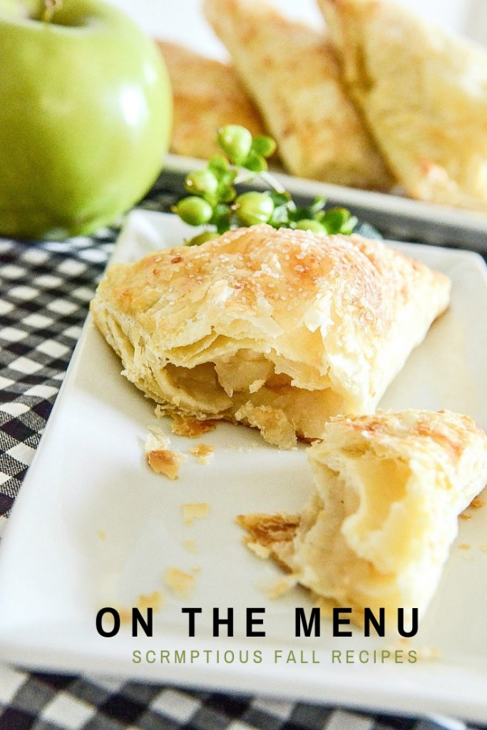 apple turnover on a white plate
