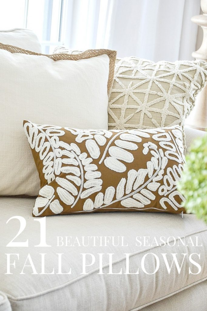 trio of fall pillows