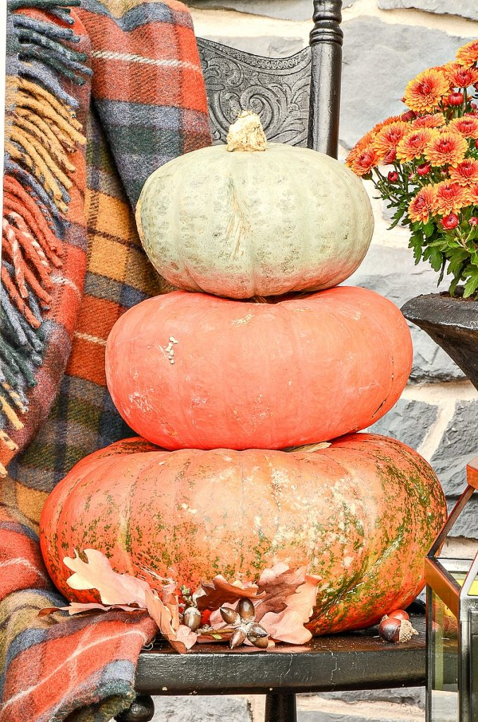 fall stack of pumpkins