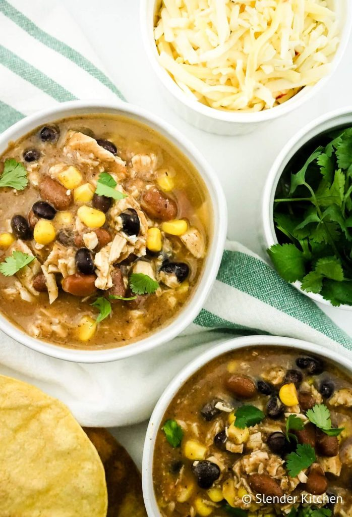 delicious taco soup on the menu