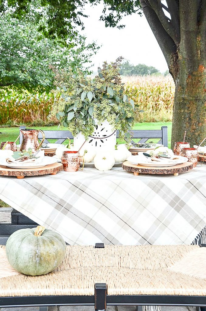 BEAUTIFUL OUTDOOR FALL TABLE