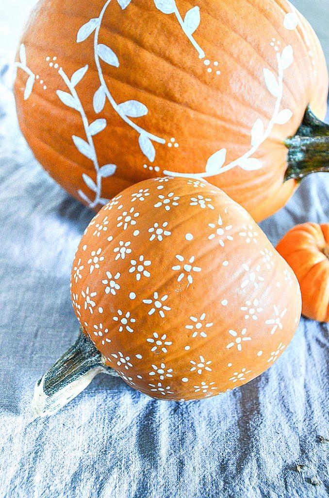 White Painted Pumpkin Diy Stonegable