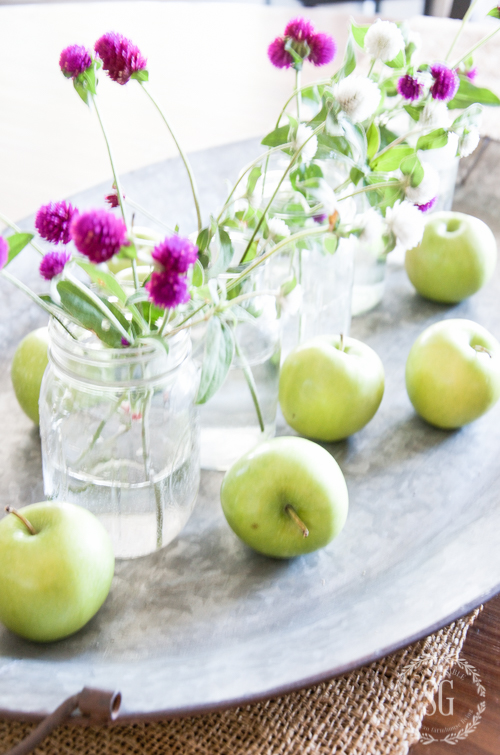 green apple fall centerpiece