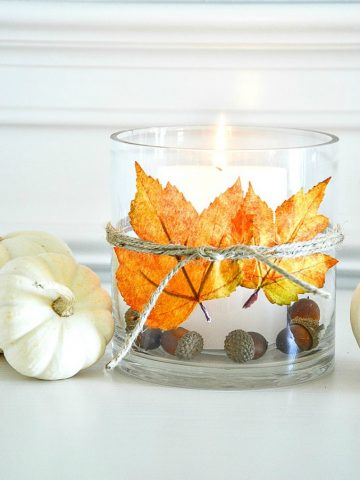 EASY 10 MINUTE FALL LEAF DECOR DIY