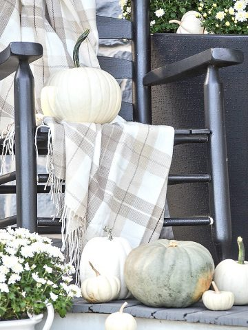 WHITE FALL FRONT PORCH