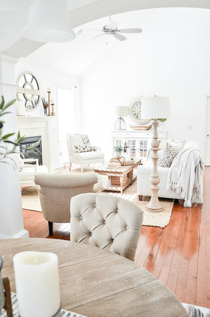 view of a neutral colored living room