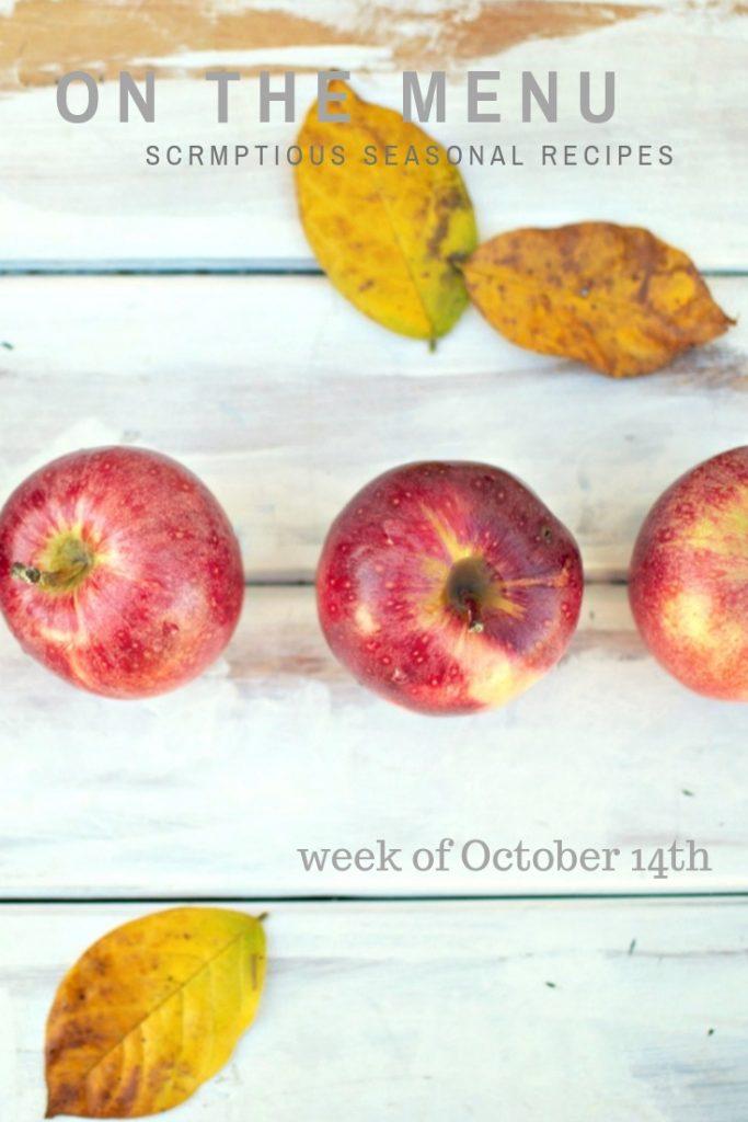red apples on the menu this week